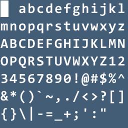 Exporter Font Bitmap Consolas-28